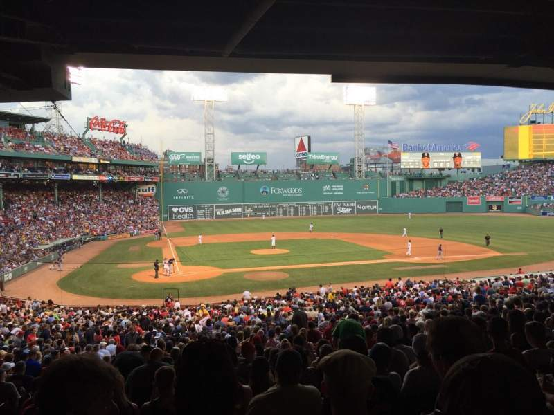 Seating view for Fenway Park Section Grandstand 17 Row 11 Seat 22