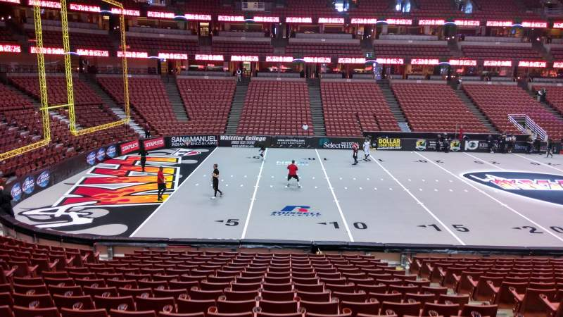 Seating view for Honda Center Section 224 Row S Seat 8