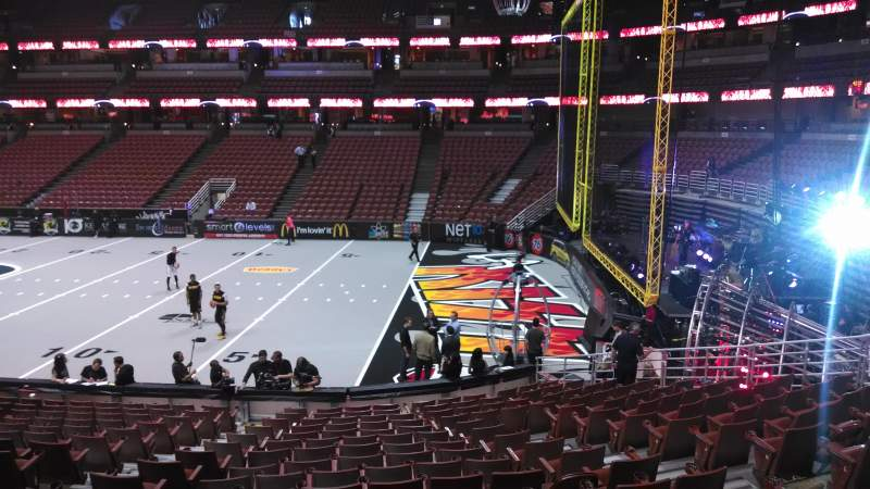 Seating view for Honda Center Section 219 Row S Seat 8