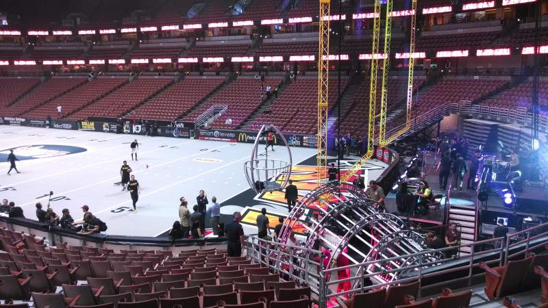 Seating view for Honda Center Section 218 Row S Seat 8