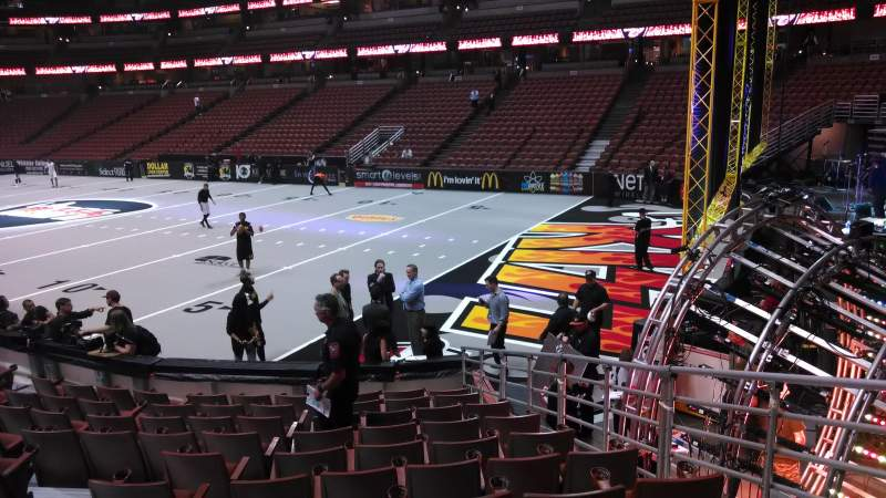 Seating view for Honda Center Section 218 Row L Seat 8