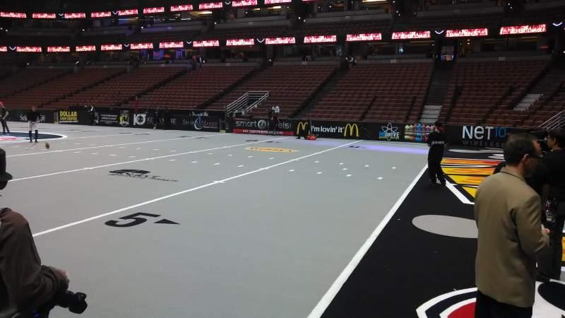 Honda Center, section: 219, row: A, seat: 8