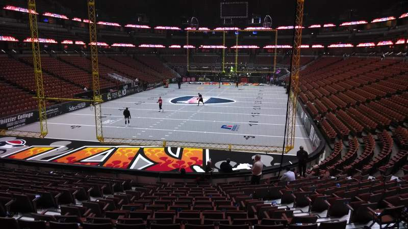 Seating view for Honda Center Section 228 Row S Seat 8
