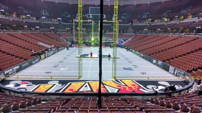 Seating view for Honda Center Section 201 Row S Seat 8