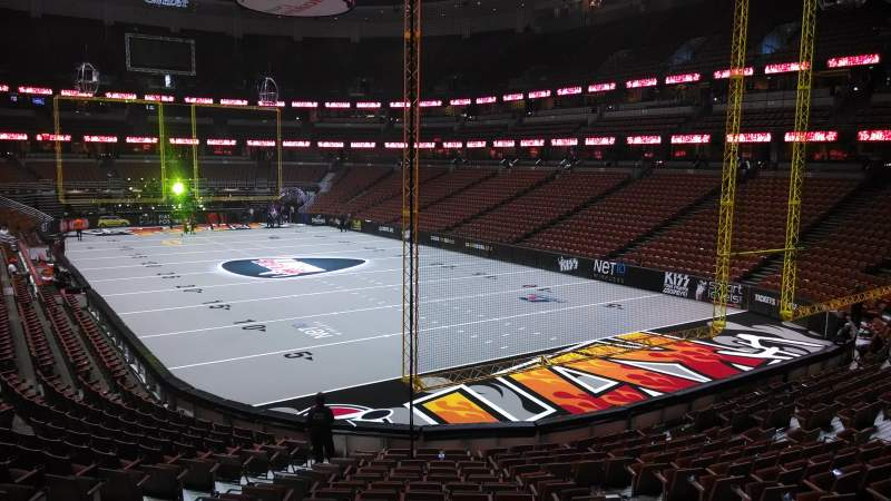 Seating view for Honda Center Section 203 Row S Seat 8