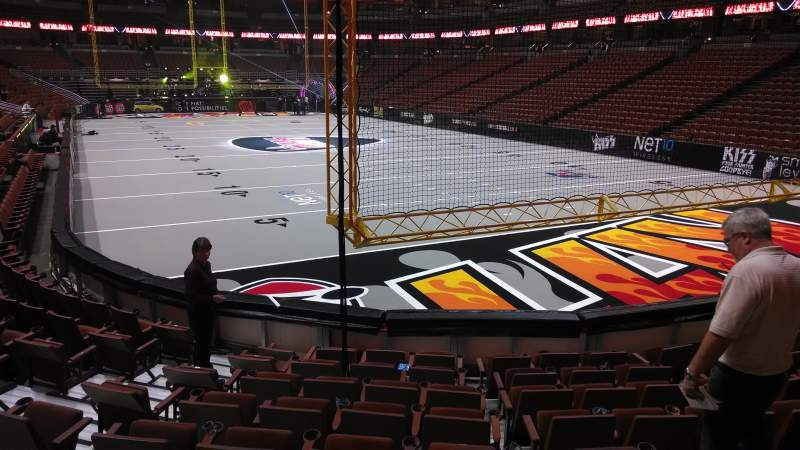 Seating view for Honda Center Section 203 Row J Seat 8