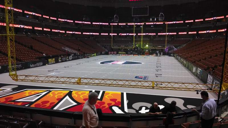 Seating view for Honda Center Section 228 Row J Seat 8
