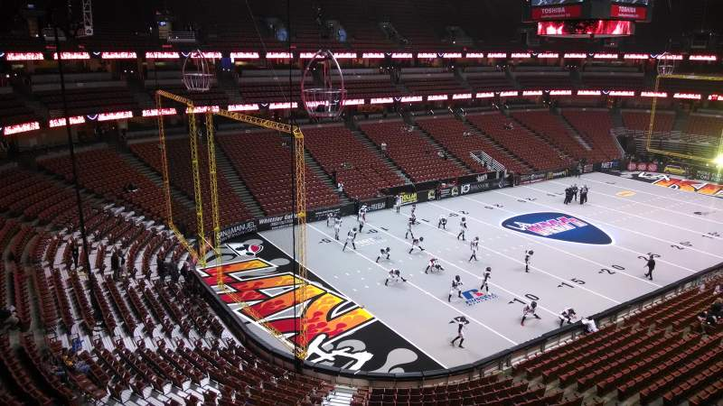 Seating view for Honda Center Section 439 Row B Seat 8