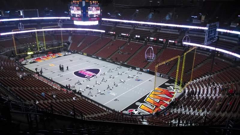 Honda Center, section: 406, row: N, seat: 8