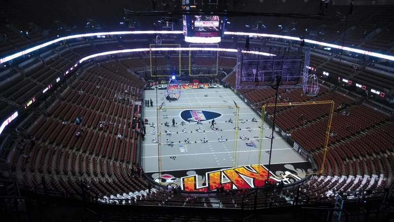 Seating view for Honda Center Section 402 Row N Seat 8