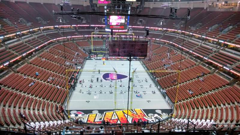 Seating view for Honda Center Section 401 Row N Seat 8