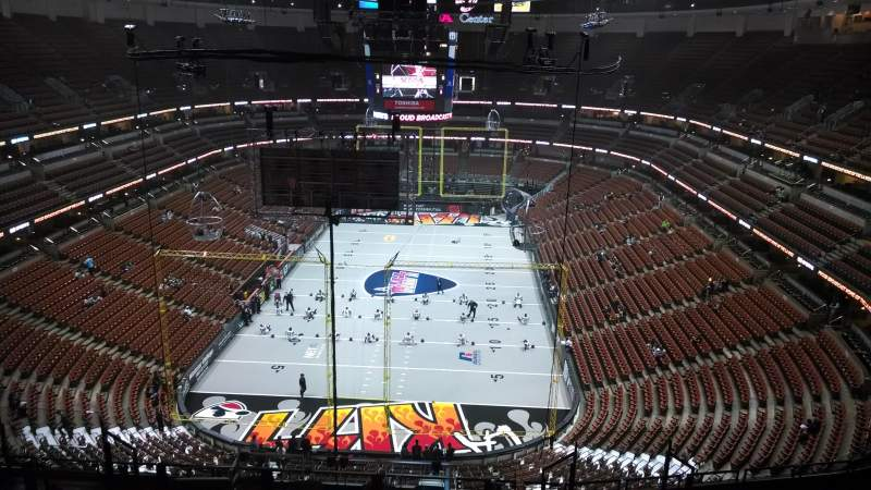 Seating view for Honda Center Section 444 Row N Seat 8