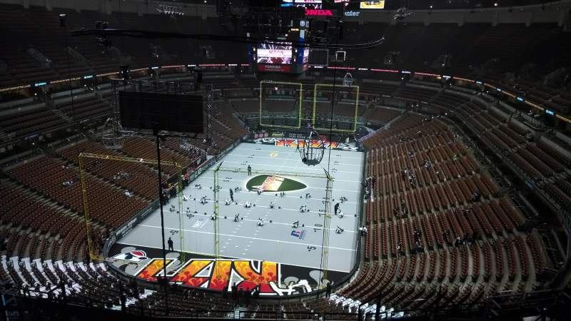 Seating view for Honda Center Section 443 Row N Seat 8