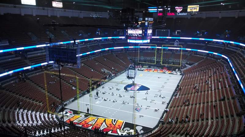 Seating view for Honda Center Section 442 Row N Seat 8