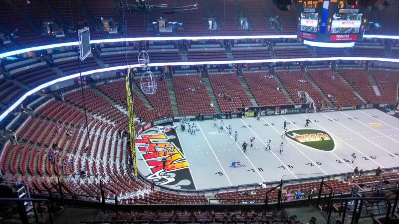 Seating view for Honda Center Section 437 Row N Seat 8