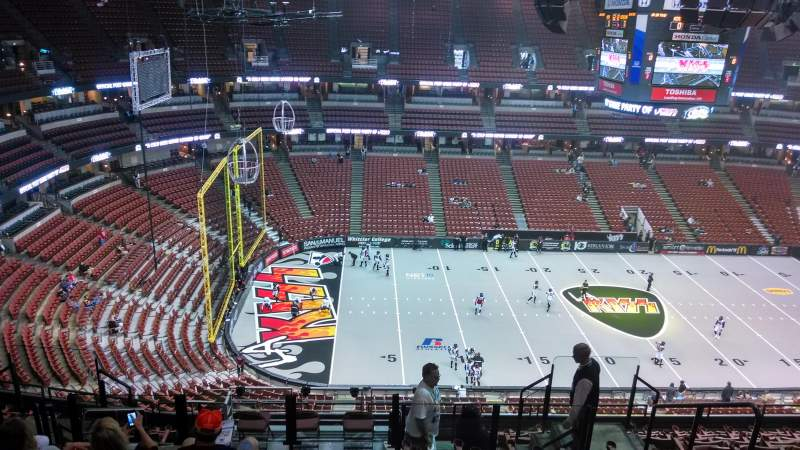 Seating view for Honda Center Section 436 Row N Seat 8