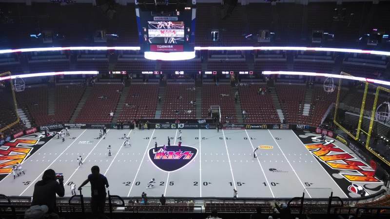 Seating view for Honda Center Section 433 Row M Seat 8