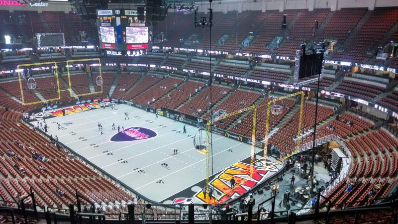 Seating view for Honda Center Section 427 Row M Seat 8