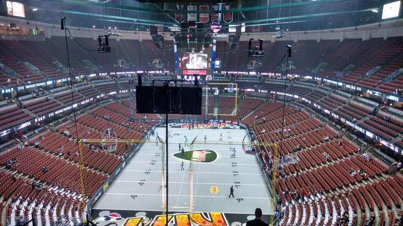 Seating view for Honda Center Section 422 Row M Seat 8