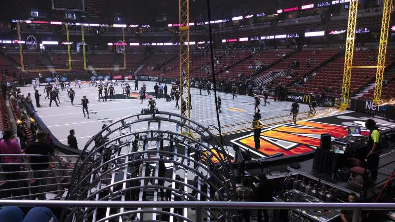 Seating view for Honda Center Section 217 Row P Seat 8