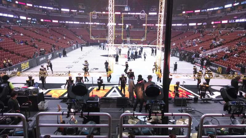 Seating view for Honda Center Section 214 Row P Seat 8