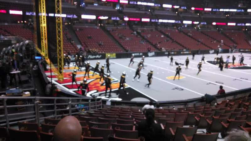 Seating view for Honda Center Section 212 Row P Seat 8
