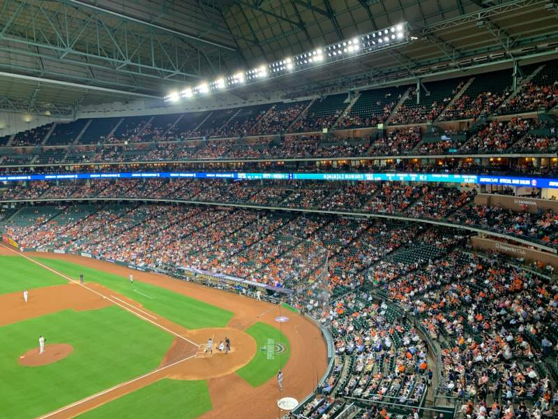 Seating view for Minute Maid Park Section 313 Row 1 Seat 11
