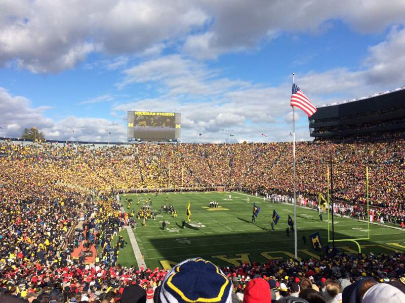 Seating view for Michigan Stadium Section 14 Row 51 Seat 7