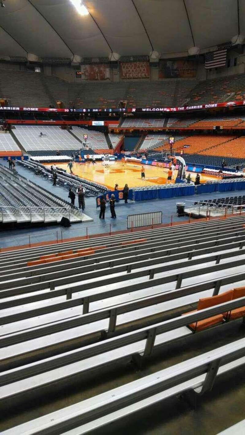 Seating view for Carrier Dome Section 115 Row R Seat 101