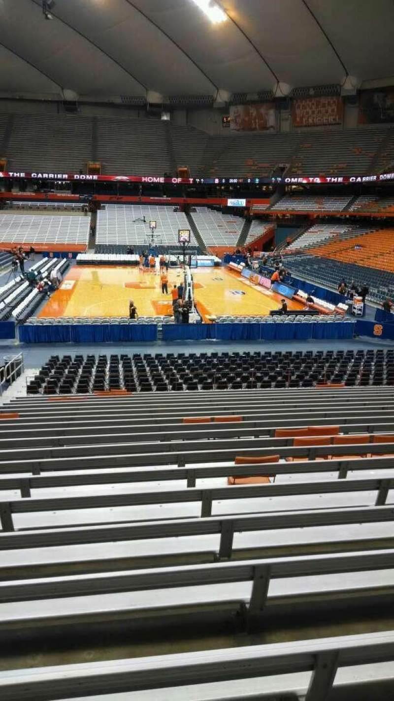 Seating view for Carrier Dome Section 114 Row T Seat 105