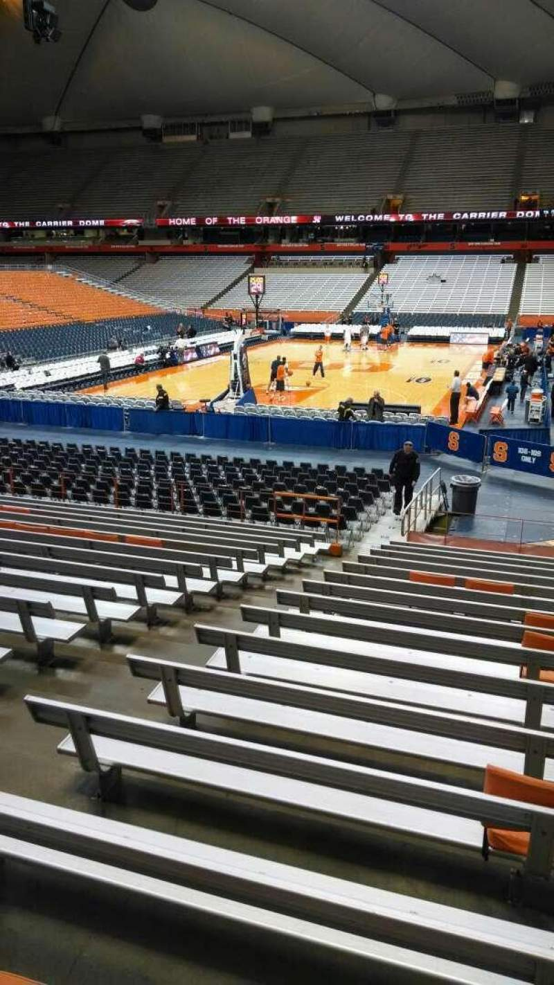 Seating view for Carrier Dome Section 113 Row P Seat 105