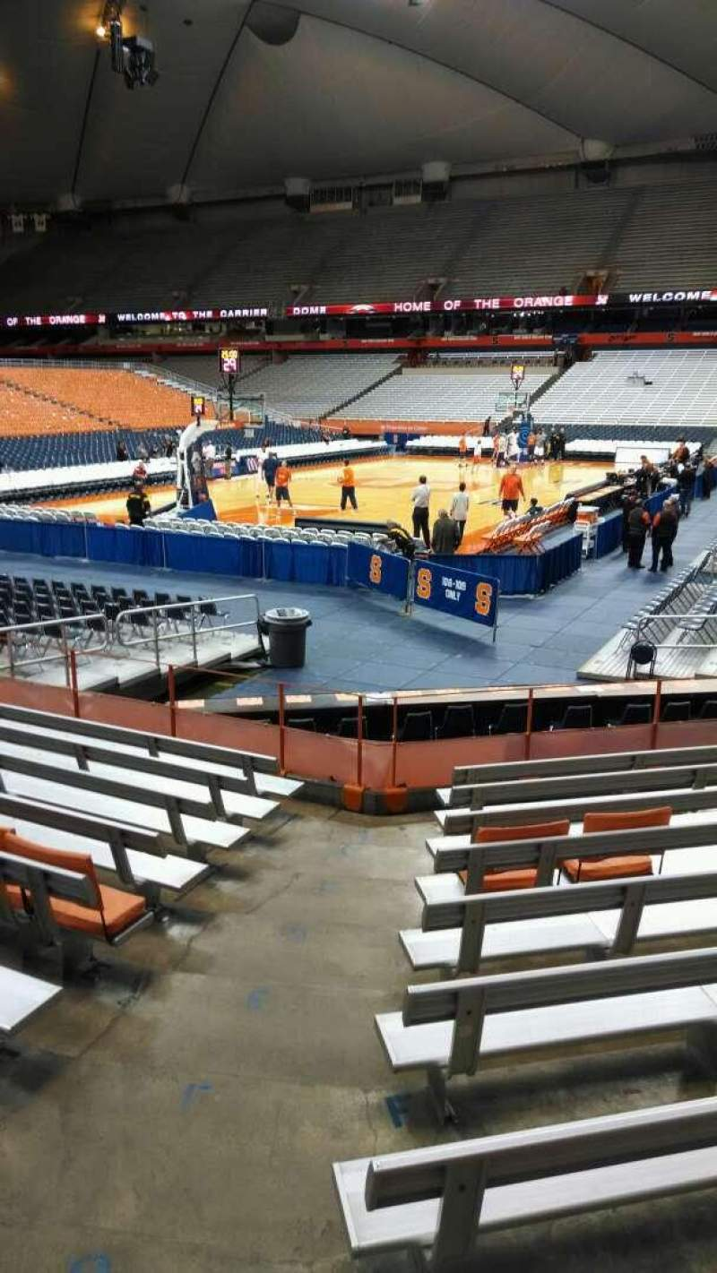 Seating view for Carrier Dome Section 112 Row J Seat 107