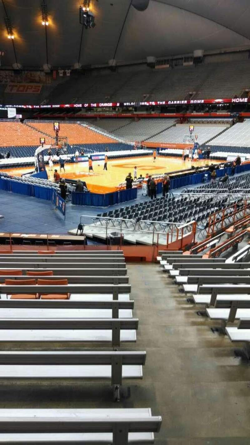 Seating view for Carrier Dome Section 111 Row N Seat 1