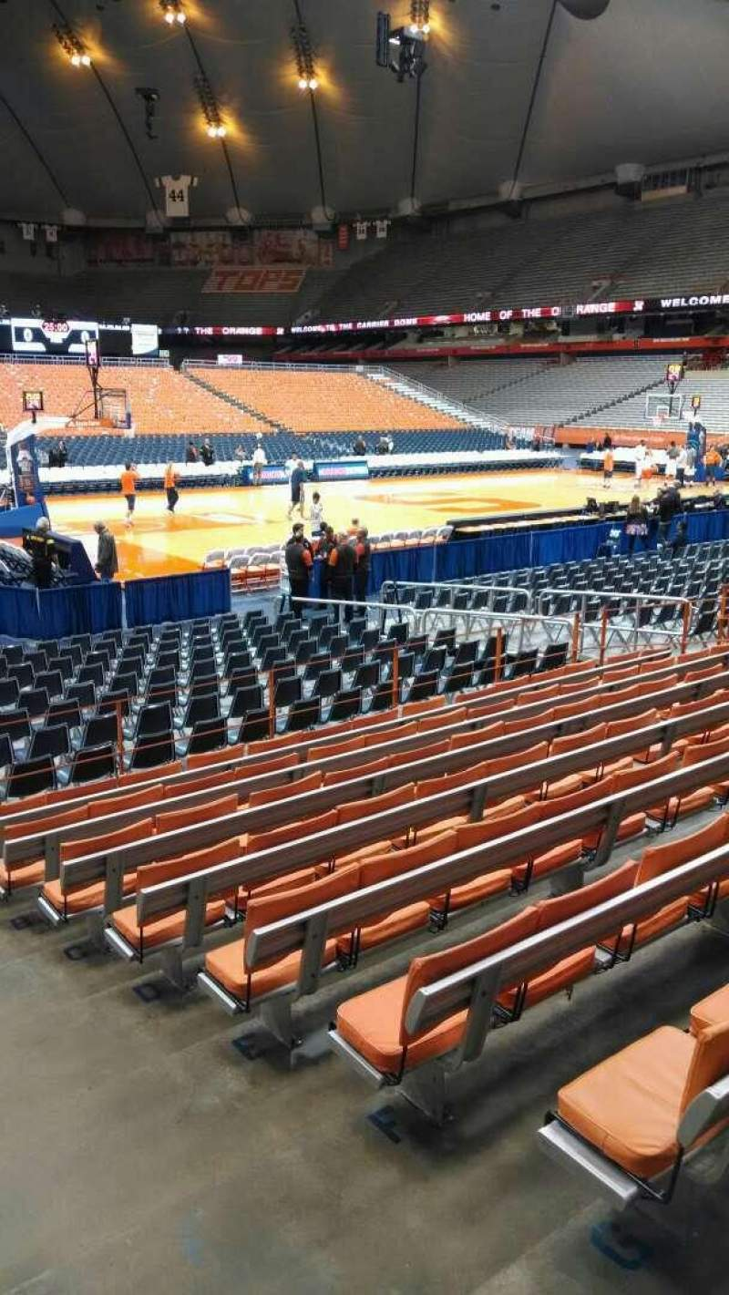 Seating view for Carrier Dome Section 110 Row I Seat 2