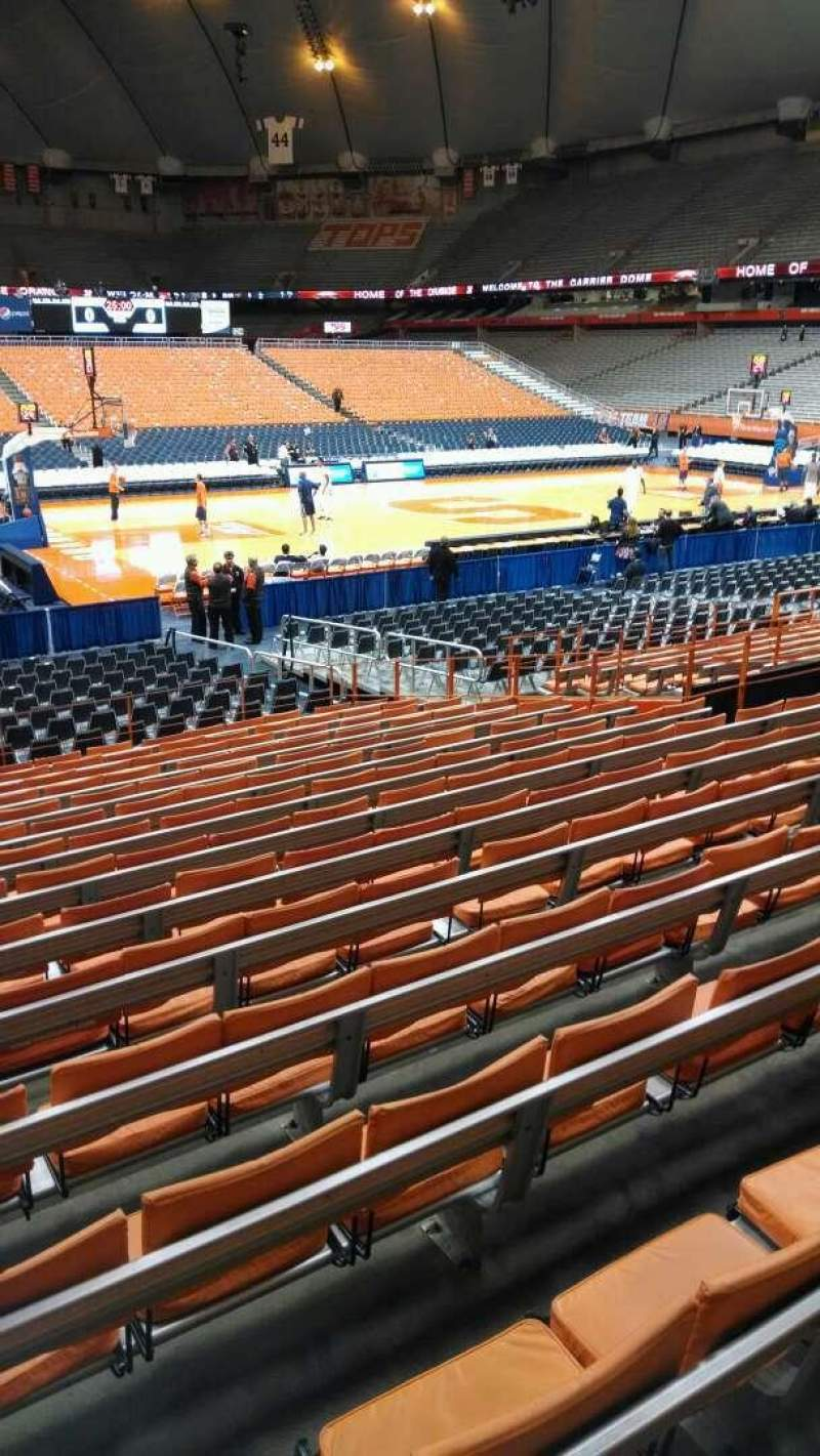 Seating view for Carrier Dome Section 110 Row O Seat 101