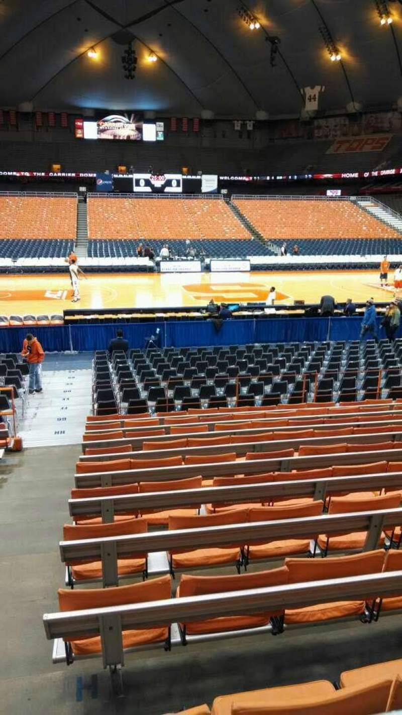 Carrier Dome Section 109 Home Of Syracuse Orange