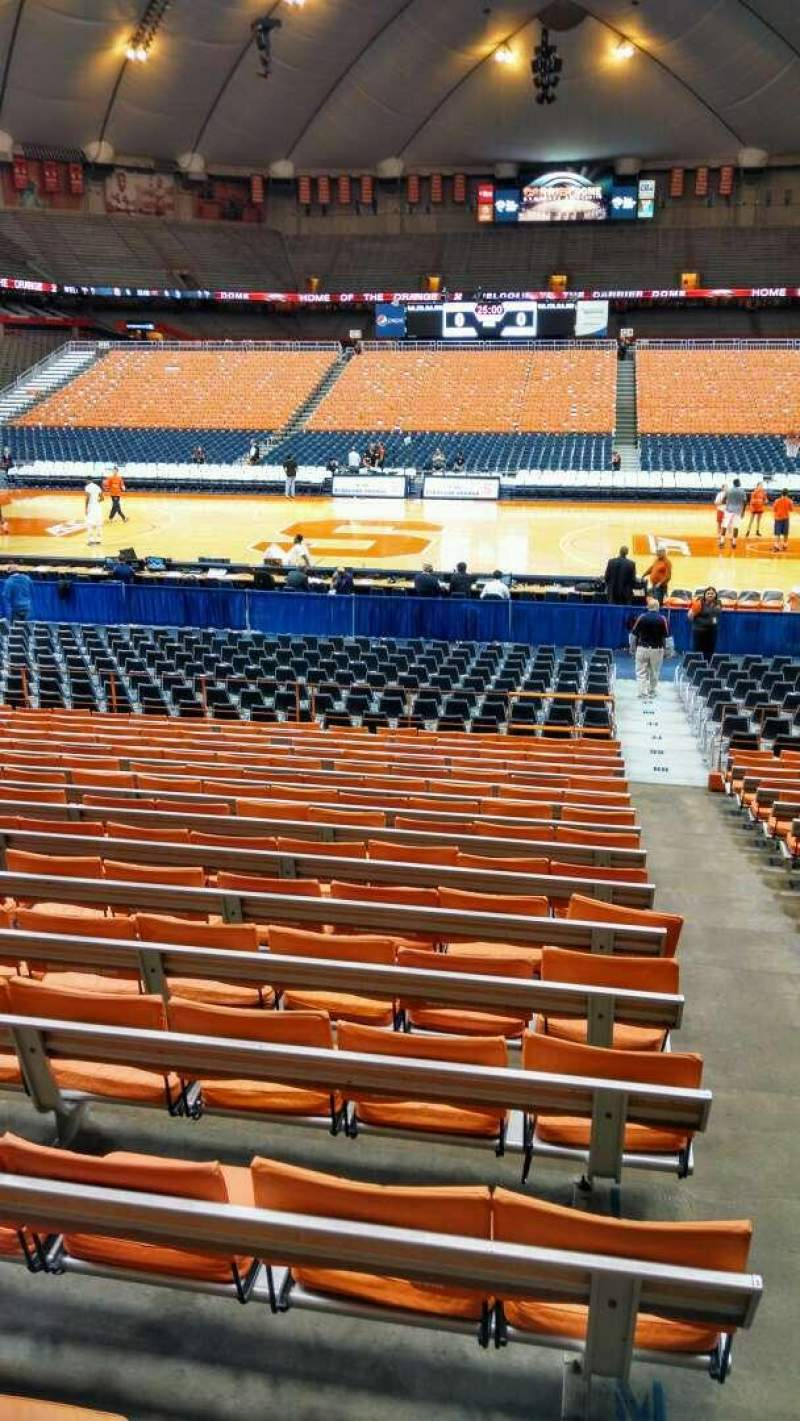 Seating view for Carrier Dome Section 108 Row P Seat 1