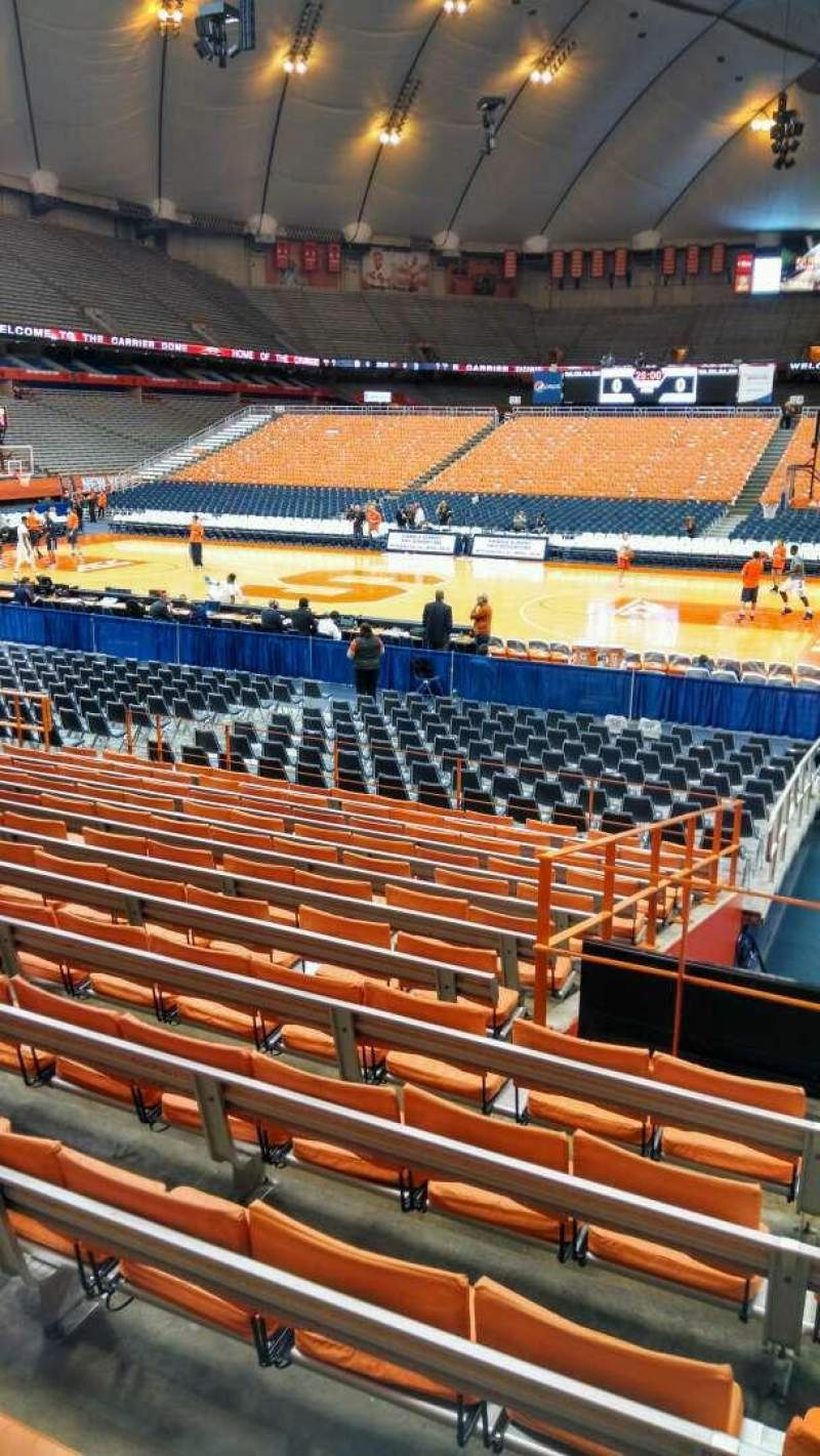 Seating view for Carrier Dome Section 107 Row M Seat 17