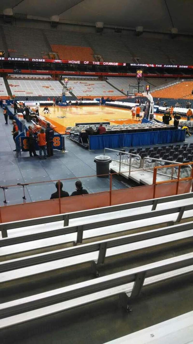 Seating view for Carrier Dome Section 105 Row G Seat 112