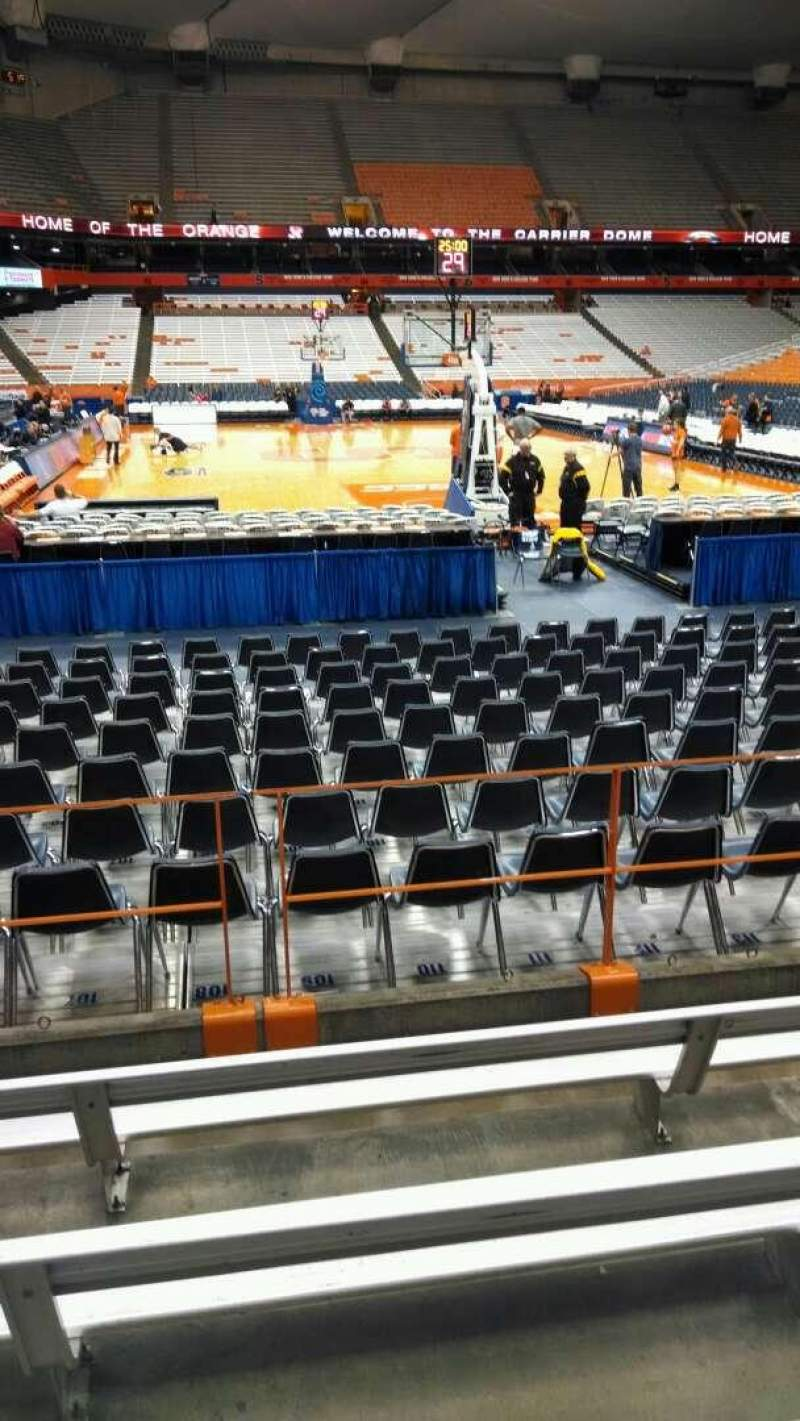 Seating view for Carrier Dome Section 104 Row E Seat 108