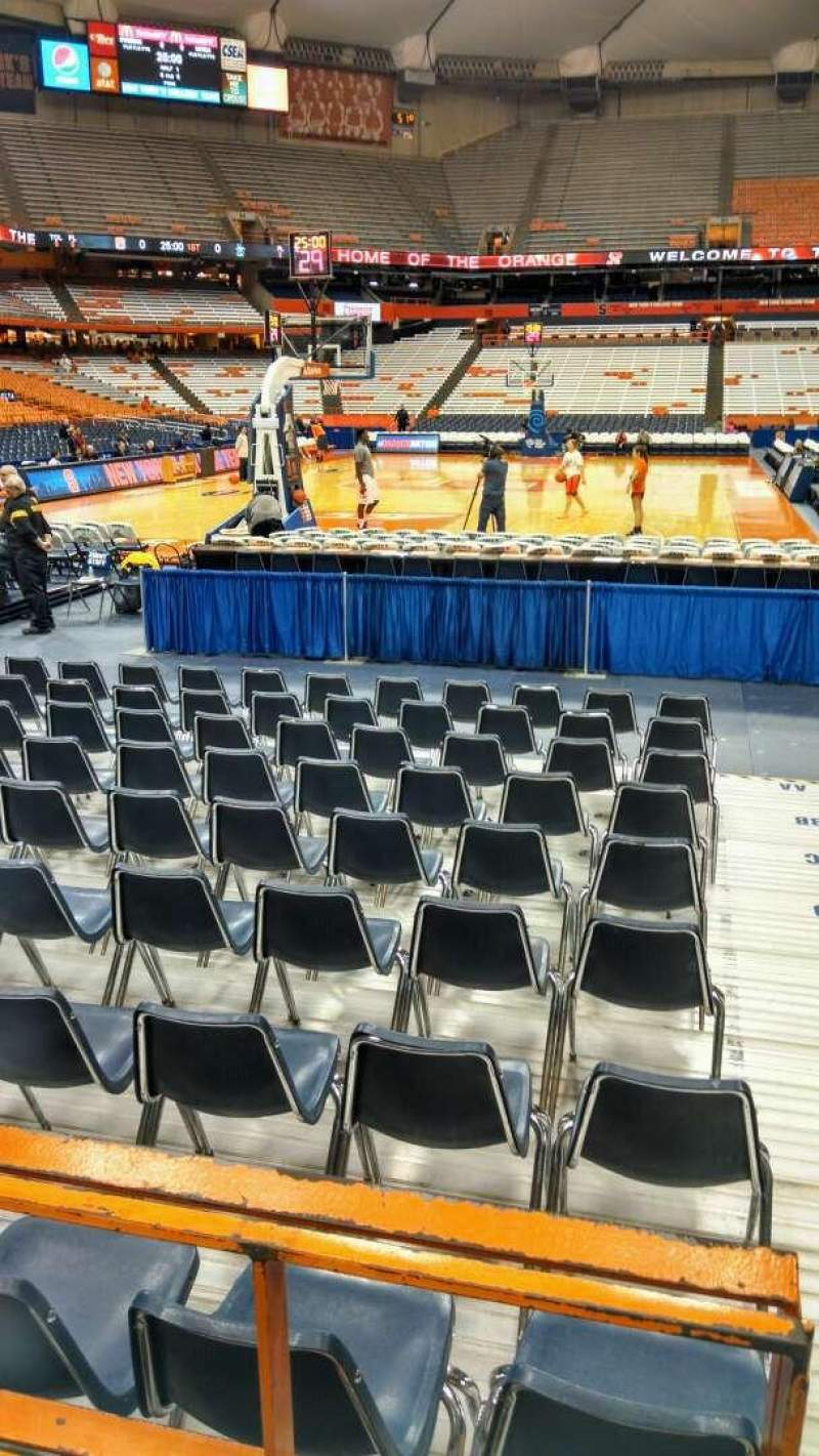 Seating view for Carrier Dome Section 103 Row B Seat 2