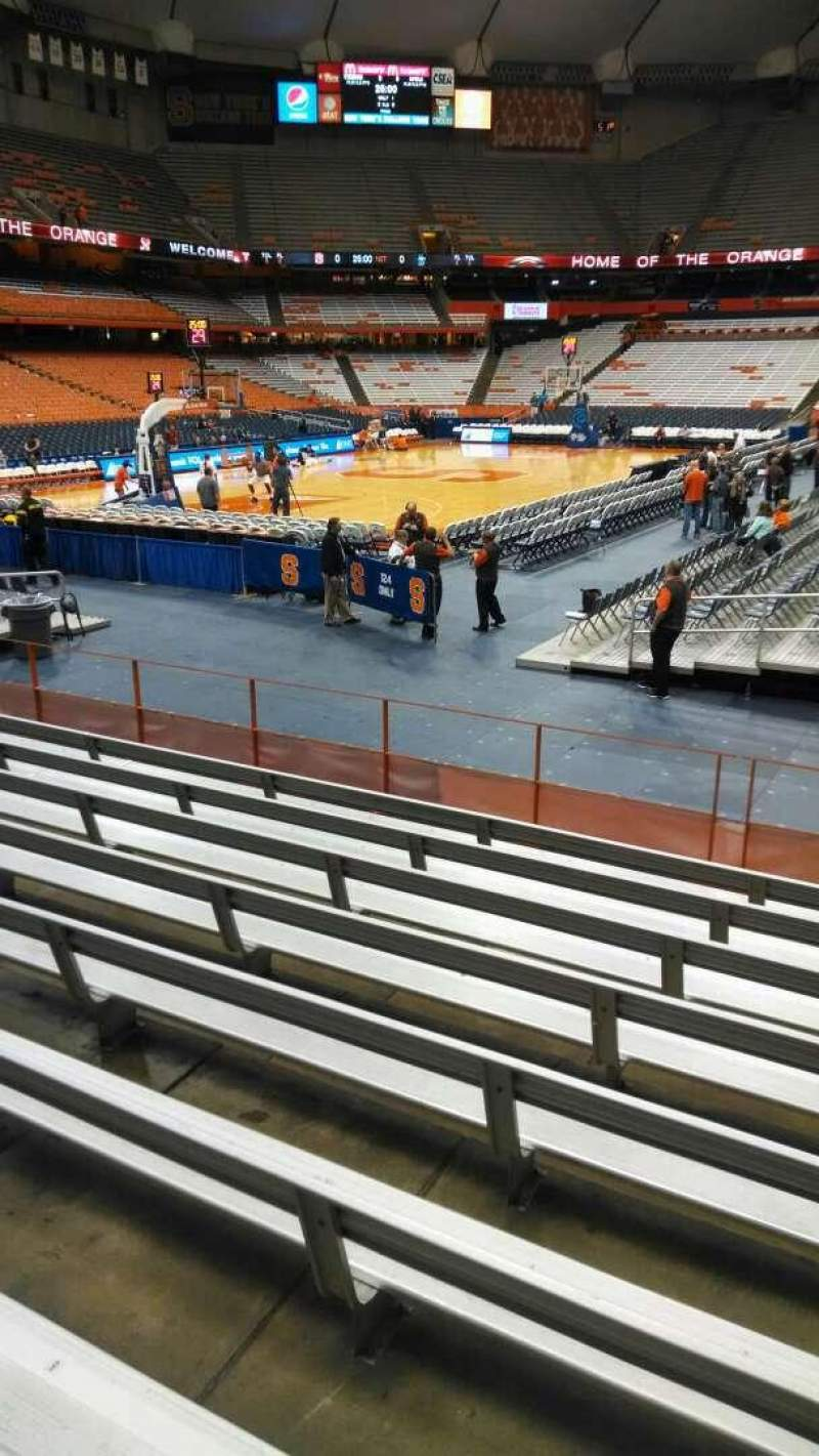 Seating view for Carrier Dome Section 102 Row I Seat 5