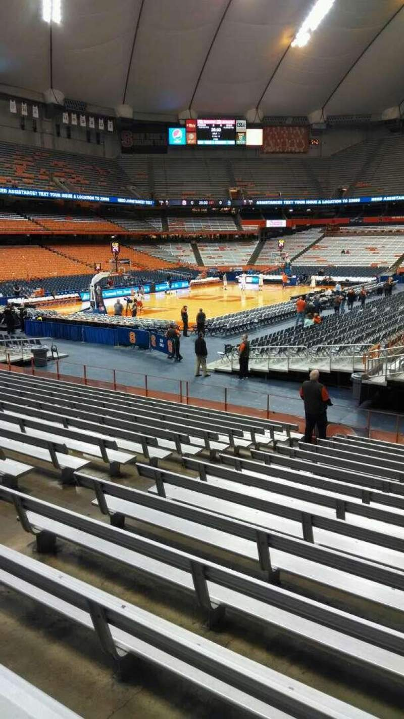 Seating view for Carrier Dome Section 101 Row O Seat 109