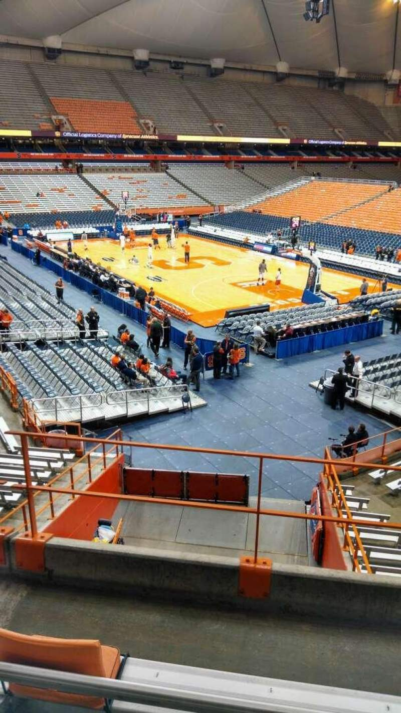 Seating view for Carrier Dome Section 207 Row D Seat 5