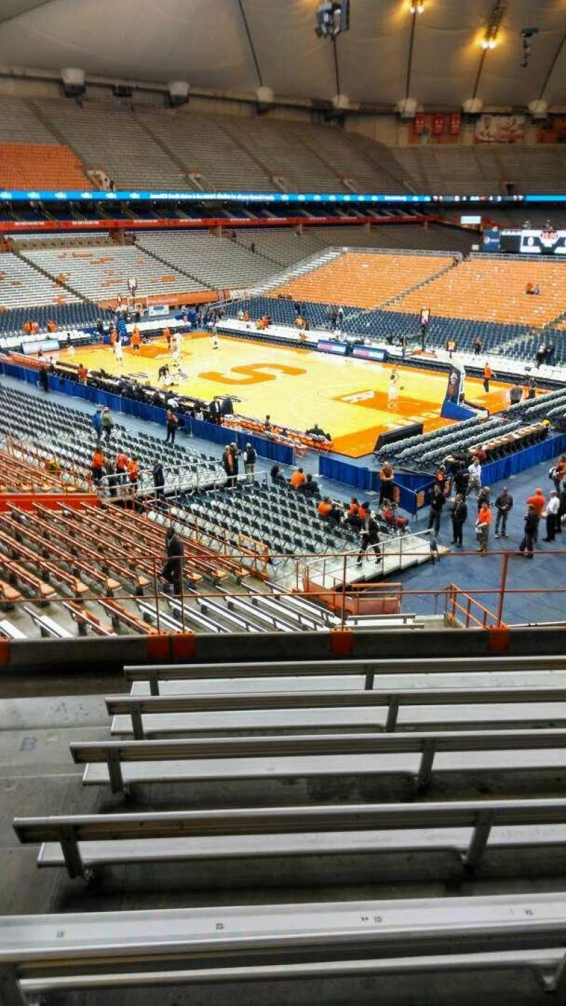 Seating view for Carrier Dome Section 208 Row H Seat 102