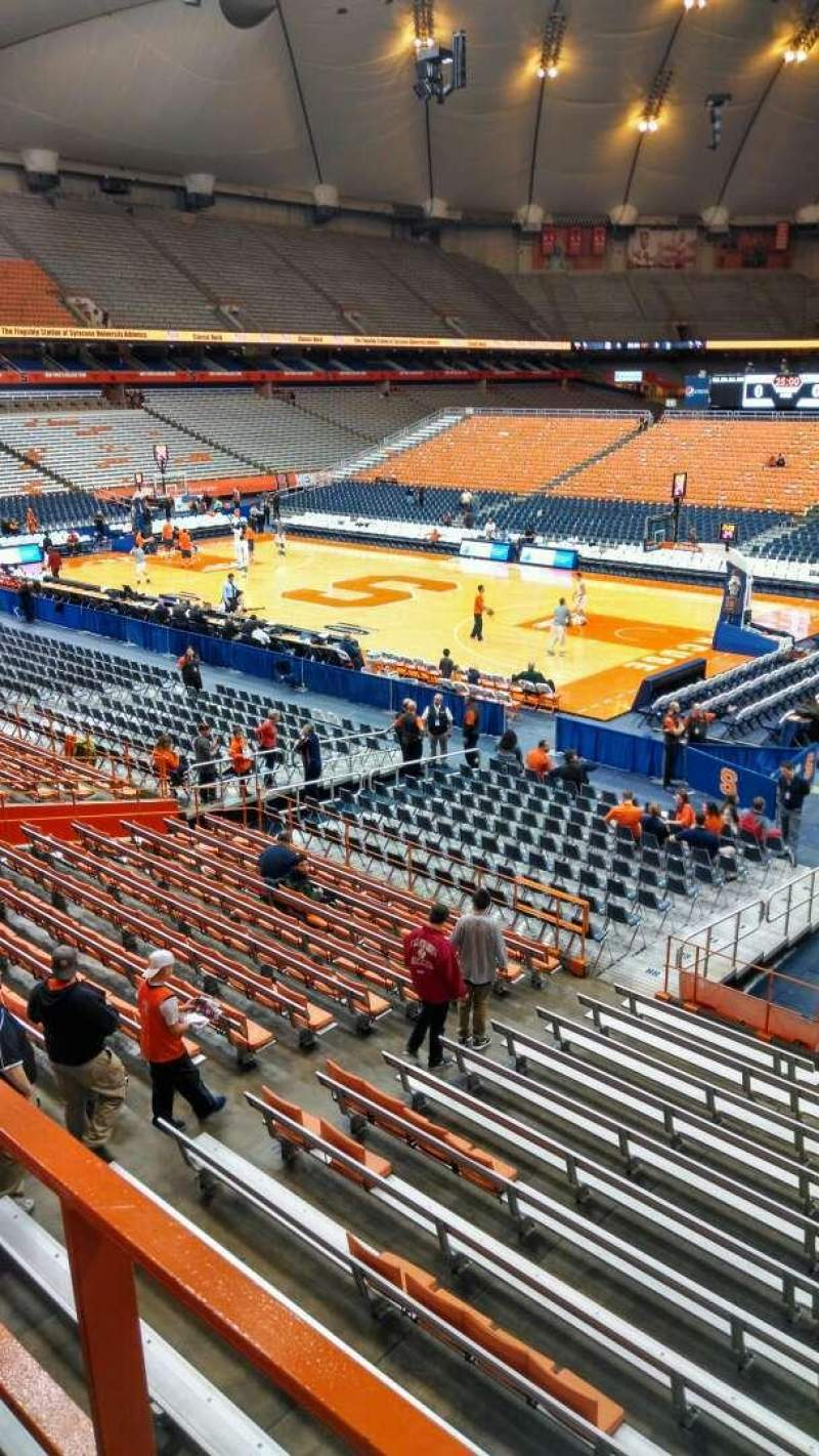 Seating view for Carrier Dome Section 210 Row A Seat 114