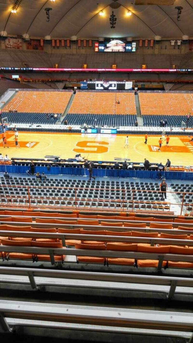 Seating view for Carrier Dome Section 211 Row I Seat 7