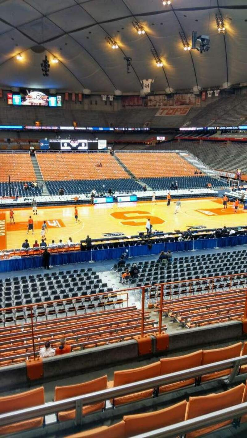 Seating view for Carrier Dome Section 212 Row E Seat 12