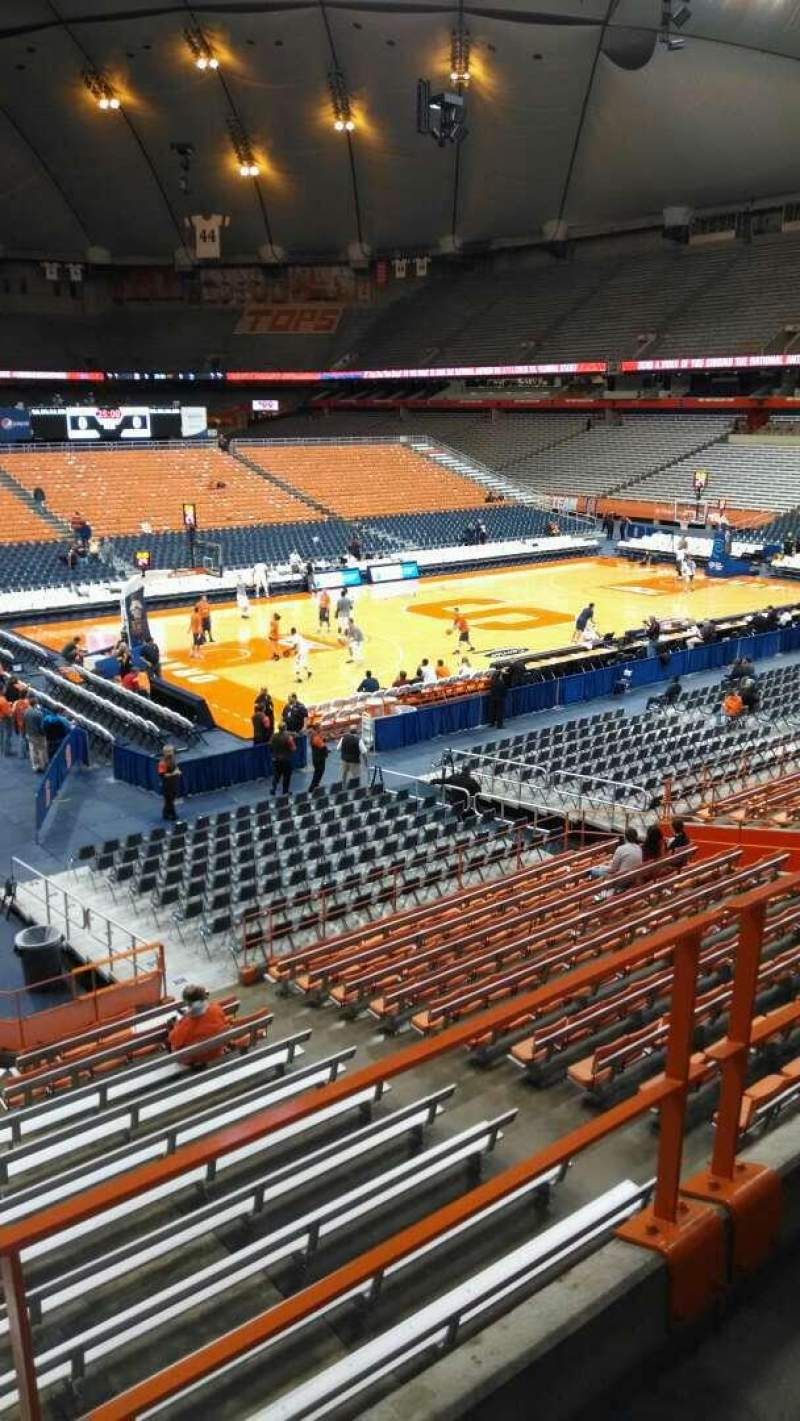 Seating view for Carrier Dome Section 213 Row B Seat 13