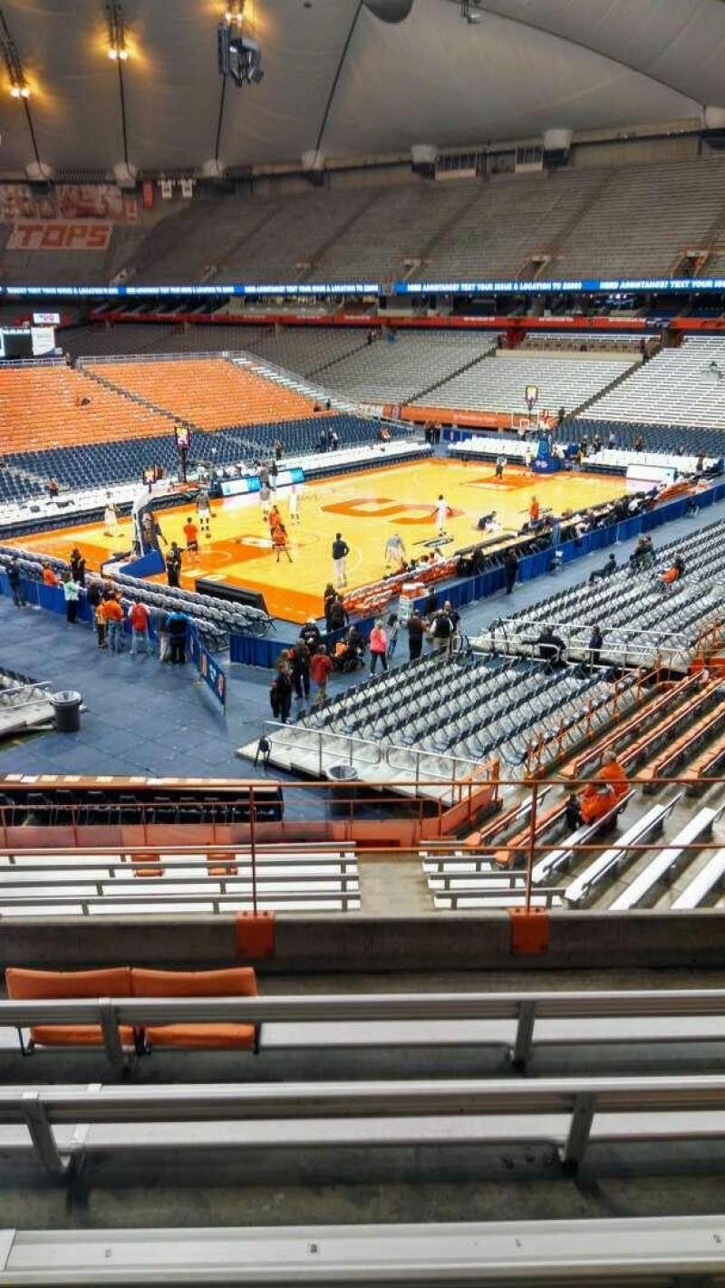 Seating view for Carrier Dome Section 215 Row F Seat 13